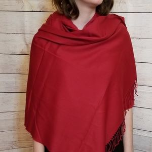 New/No tags Red Shawl or Scarf